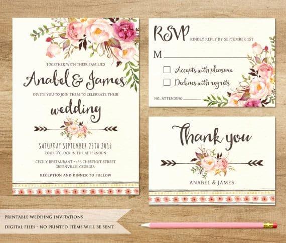 Free Wedding Invitations Printable Unique Printable Wedding Invitations Best Photos Cute Wedding Ideas