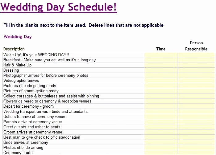Free Wedding Itinerary Template Best Of 35 Beautiful Wedding Guest List & Itinerary Templates