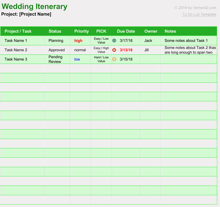 Free Wedding Itinerary Template Unique Free Wedding Itinerary Planner & Guest List Templates