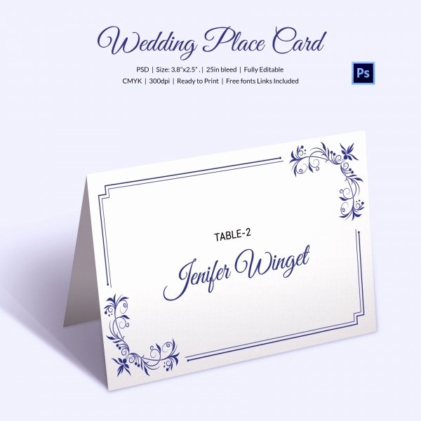 Free Wedding Place Cards Templates Awesome 25 Wedding Place Card Templates