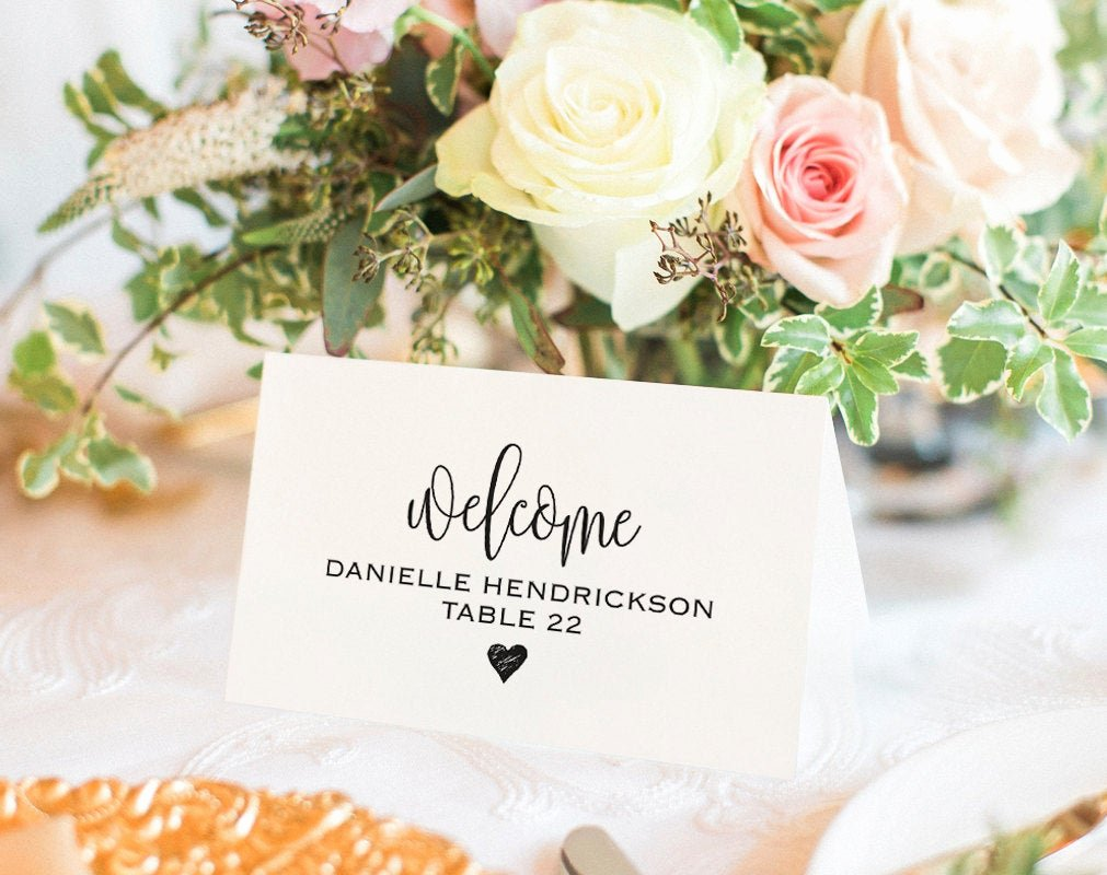 Free Wedding Place Cards Templates Awesome Place Card Template Printable Template Wedding Place Cards