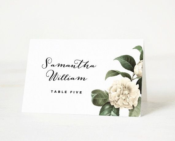 Free Wedding Place Cards Templates Elegant Printable Place Card Template Wedding Place Card Name
