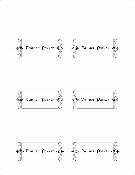 Free Wedding Place Cards Templates Fresh 10 Best Of Free format for Place Cards Wedding