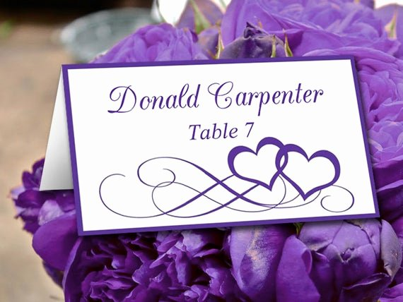 Free Wedding Place Cards Templates Lovely Diy Wedding Place Card Template Heart Escort Card Template