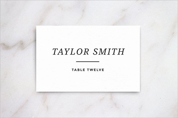 Free Wedding Place Cards Templates Lovely Name Card Templates 17 Free Printable Word Pdf Psd