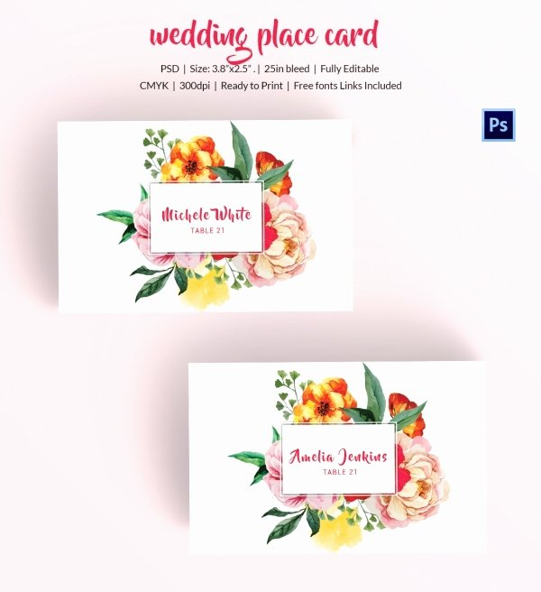 Free Wedding Place Cards Templates Luxury 25 Wedding Place Card Templates