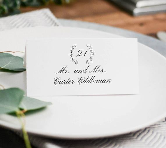 Free Wedding Place Cards Templates Luxury Printable Wedding Place Cards Wedding Place Card Template