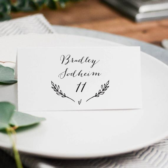 Free Wedding Place Cards Templates New Rustic Wedding Place Cards Template Printable Wedding Place