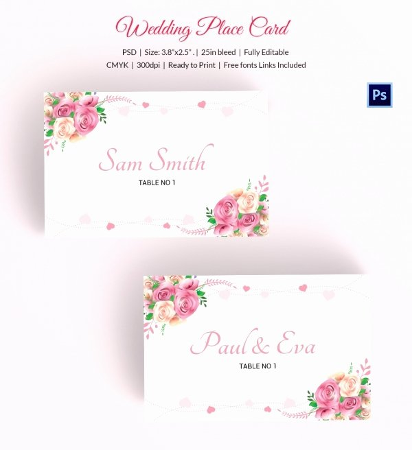 Free Wedding Place Cards Templates Unique 25 Wedding Place Card Templates