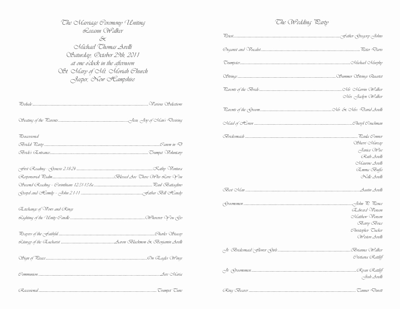 Free Wedding Programs Templates Awesome Catholic Wedding Program Template 4