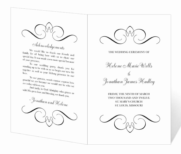 Free Wedding Programs Templates Awesome Wedding Program Template Printable Instant Download