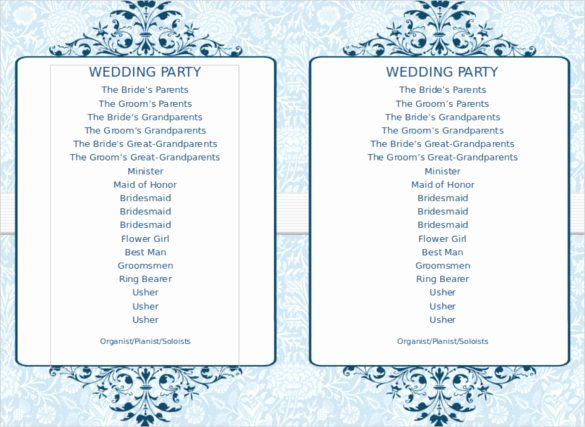 Free Wedding Programs Templates Best Of Free Printable Wedding Program Templates Word