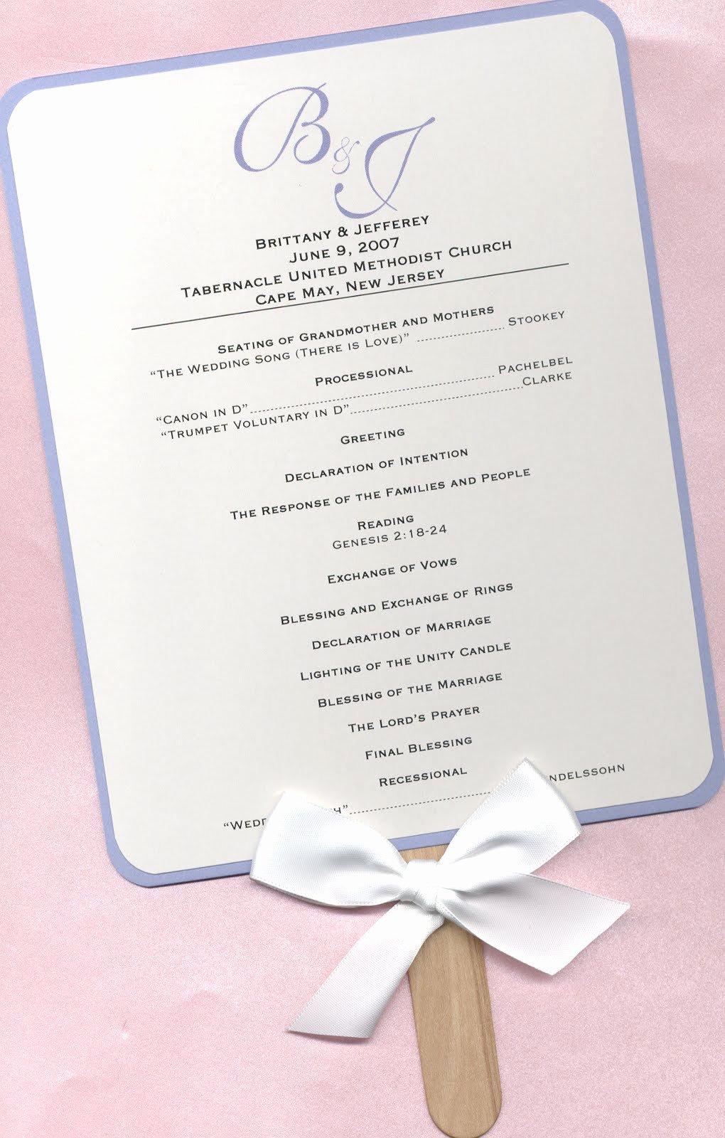 Free Wedding Programs Templates Elegant Design Aholic Wedding Program Fans