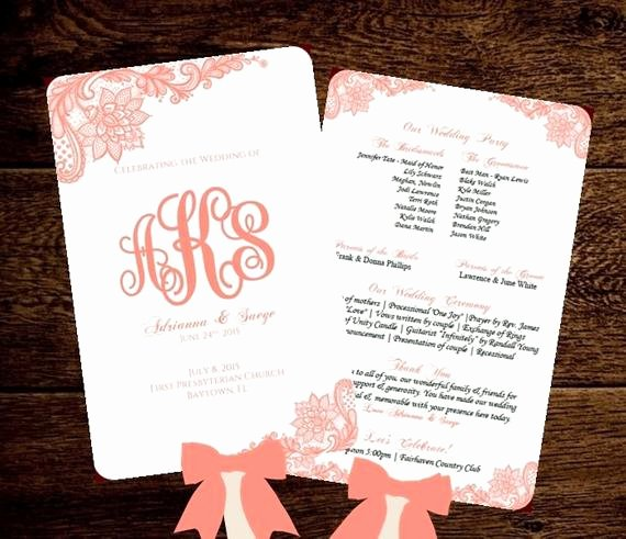 Free Wedding Programs Templates Elegant Wedding Fan Program Printable Template by Pixelromance4ever