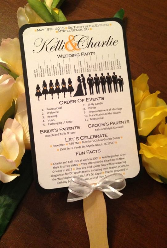 a round up of free wedding fan programs