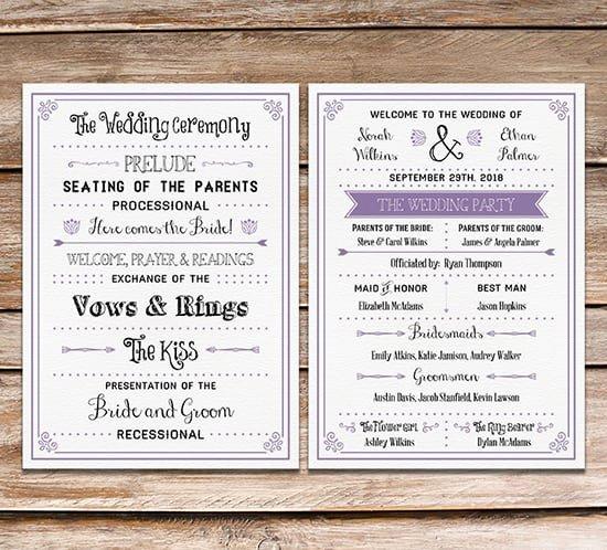 Free Wedding Programs Templates Lovely Free Printable Wedding Program