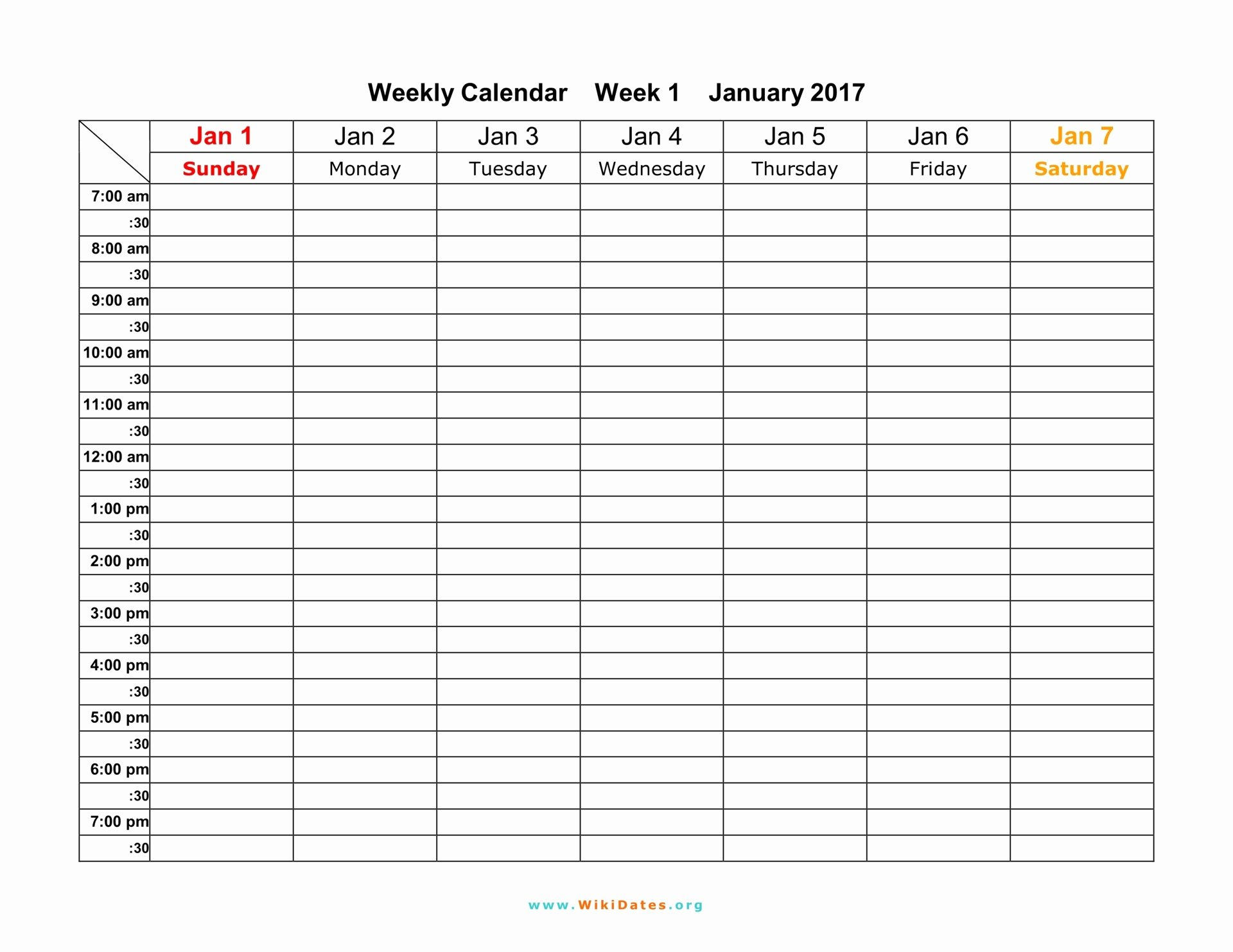 Free Weekly Printable Calendar Lovely Weekly Calendar Download Weekly Calendar 2017 and 2018