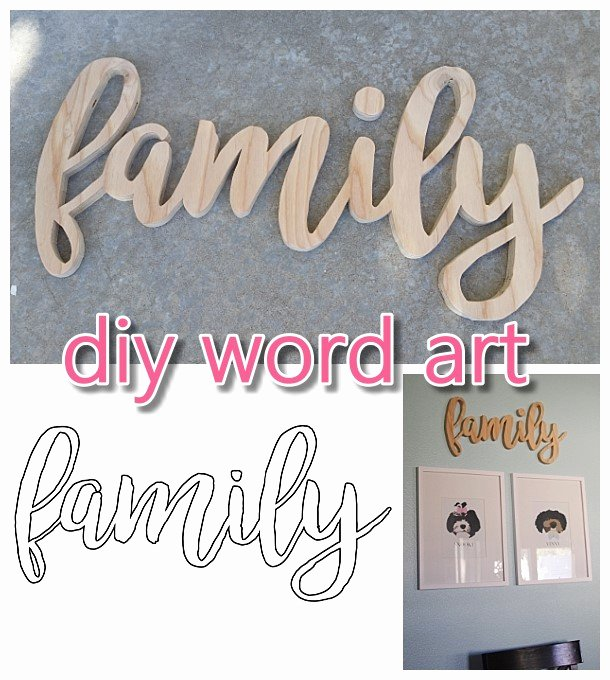 Free Word Art Template Awesome Do It Yourself Word Art Easy Scroll Saw Woodworking Diy
