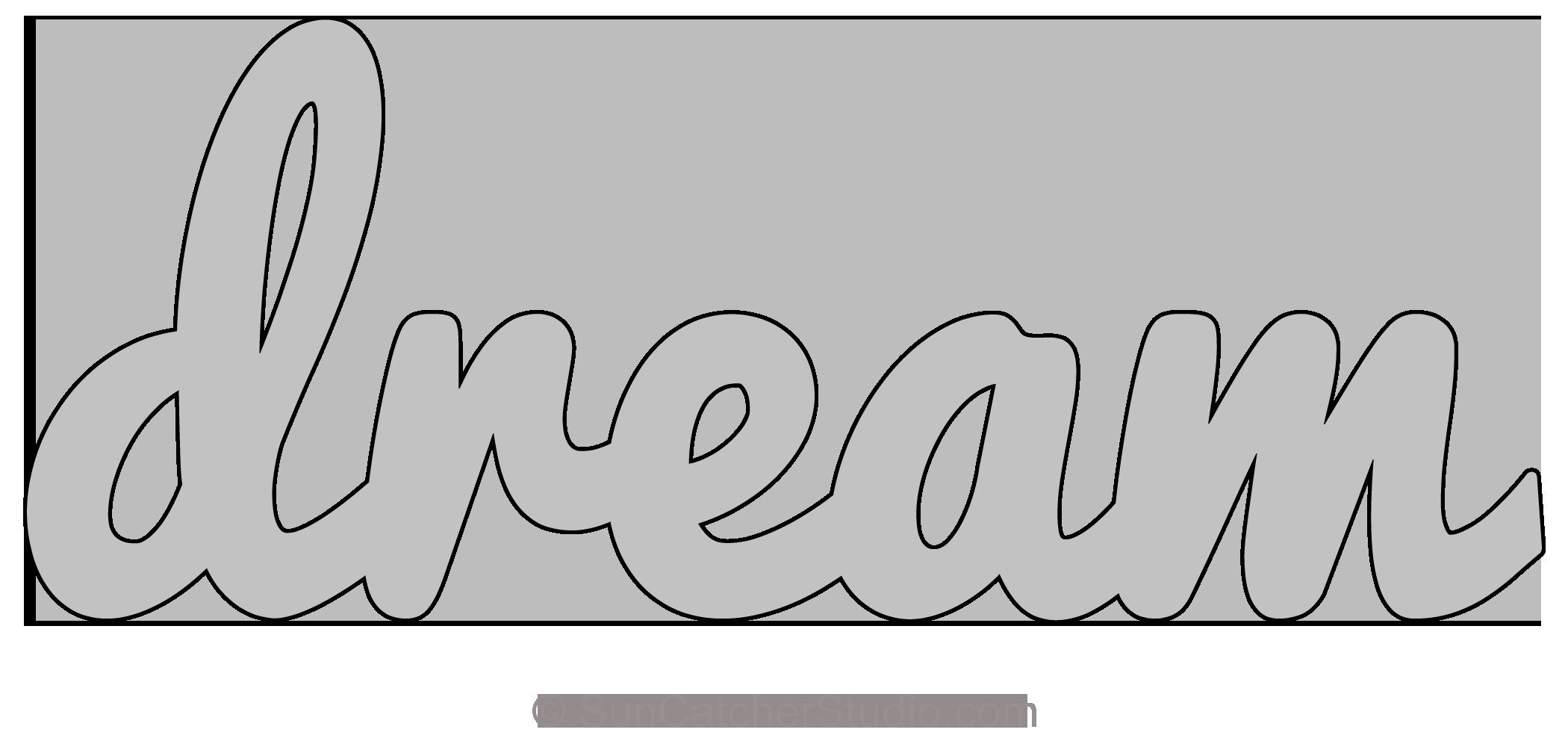 Free Word Art Template Elegant Dream Pattern Template Stencil Printable Word Art