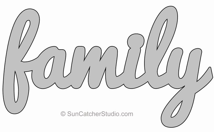 Free Word Art Template Elegant Family Pattern Template Stencil Printable Word Art
