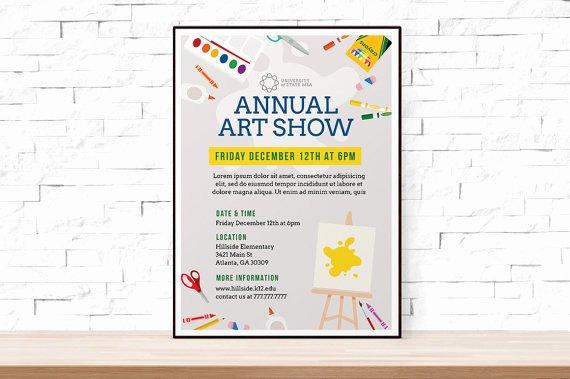 Free Word Art Template New Diy Printable School Art Show Flyer Template Word Flyer