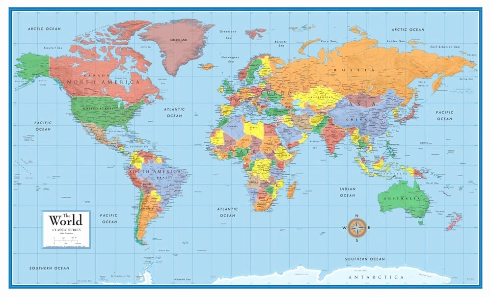 Free World Map Poster Inspirational 48x78 World Classic Elite Wall Map Poster and Mural
