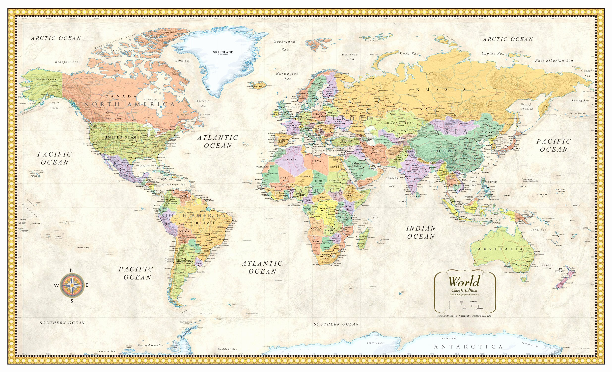 Free World Map Poster Inspirational Contemporary Premier World Wall Map Poster