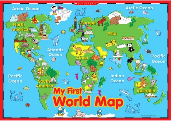 Free World Map Poster Luxury My First World Map – Poster Scholastic Shop