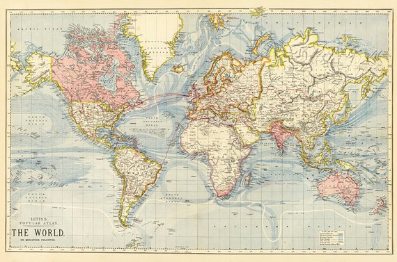 Free World Map Poster New World Map Printable Digital Vintage World Map Old
