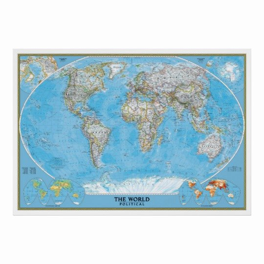 Free World Map Poster Unique Extra Political World Map Poster Print
