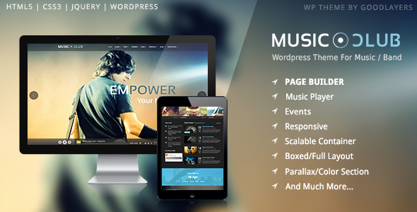 Free Wp Music theme Awesome Music Club Music Band Club Party Wordpress theme by