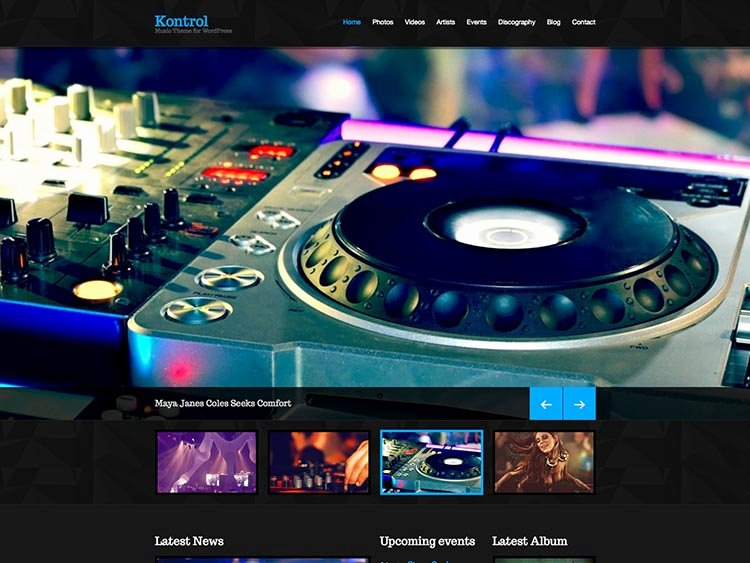 Free Wp Music theme Best Of 21 Best Wordpress Music & Dj themes for 2018 Siteturner