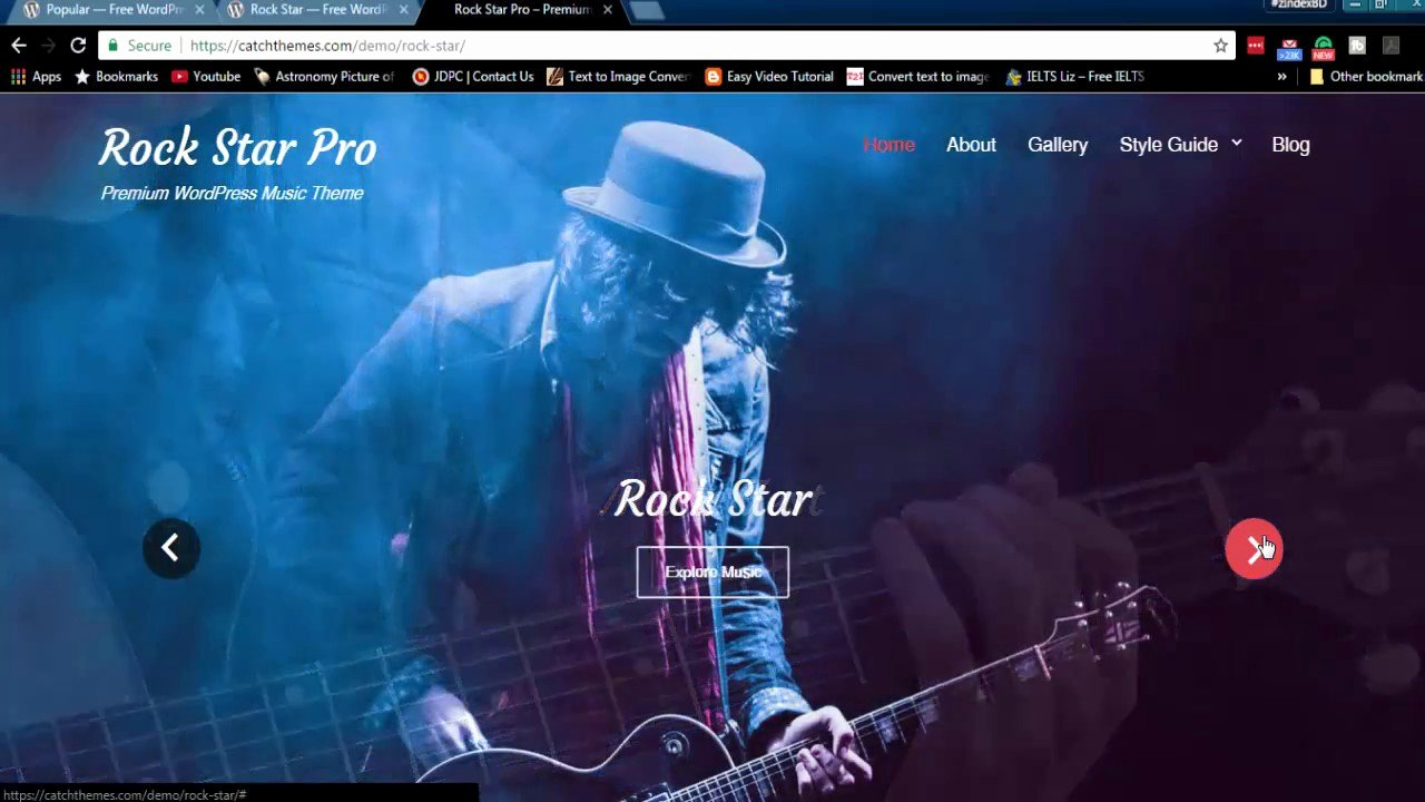 Free Wp Music theme Best Of Rock Star Free Wordpress theme Features and Download Link