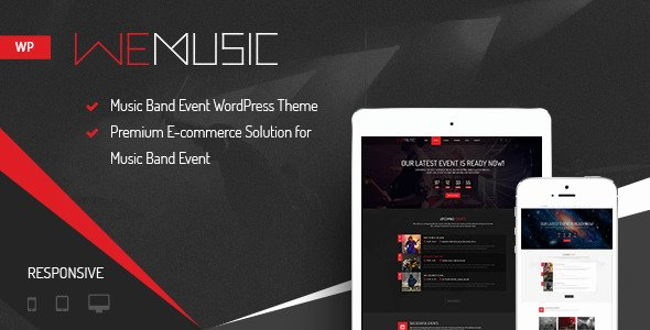 Free Wp Music theme Unique Wemusic Music Band event Wordpress theme by Nootheme