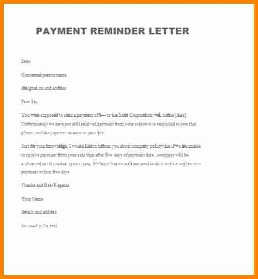 Friendly Collection Letter Sample Lovely 9 Friendly Payment Reminder Letter Samples