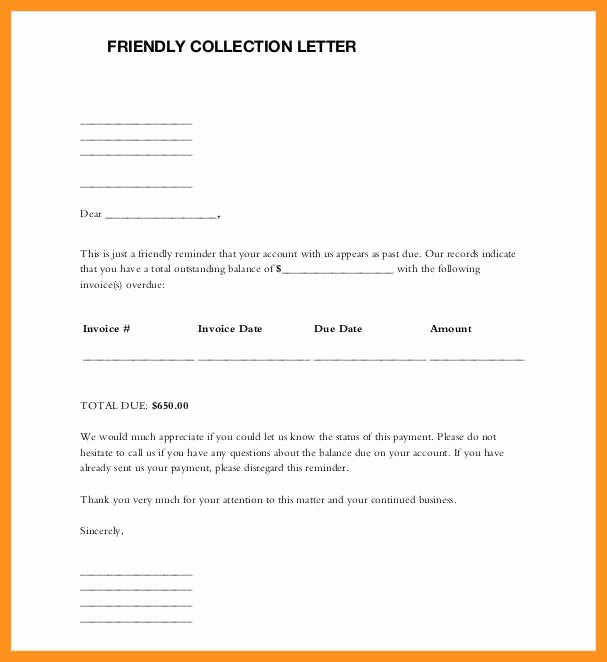 Friendly Collection Letter Sample New 9 10 Friendly Letters Samples