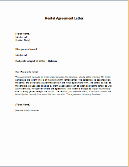 Friendly Rent Increase Letter Beautiful Rental Agreement Letter Template