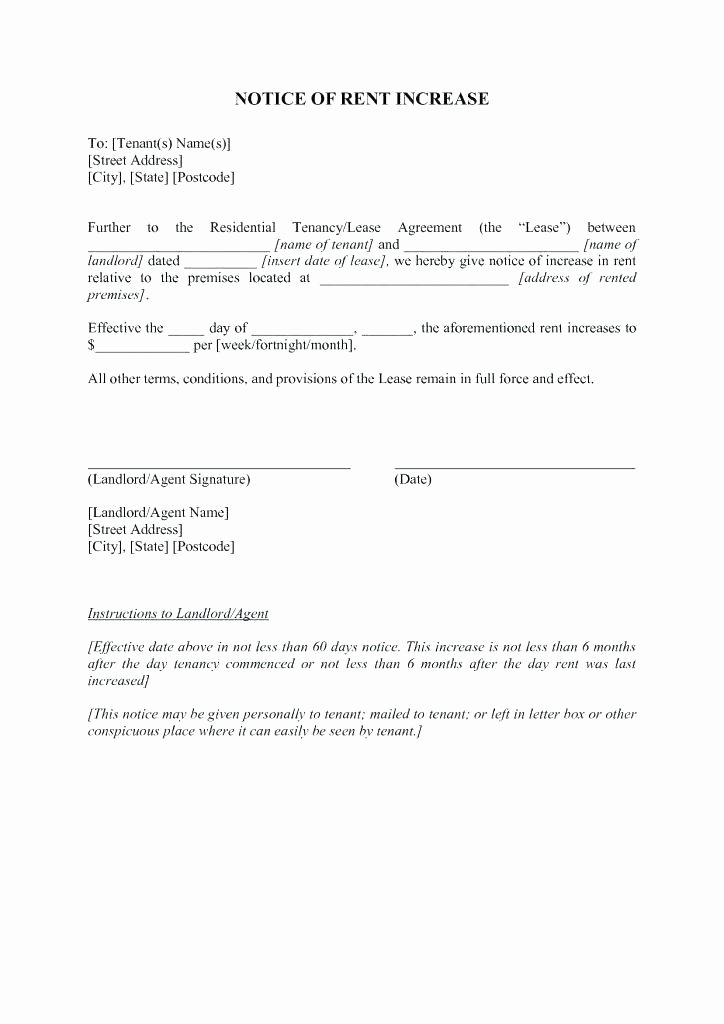 Friendly Rent Increase Letter Lovely Rent Increase Template