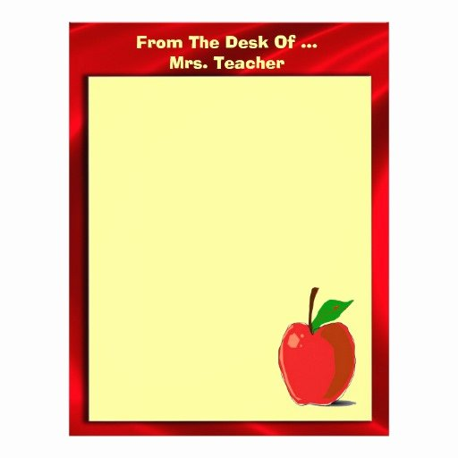 From the Desk Of Template Awesome Cute From the Desk Apple Stationery
