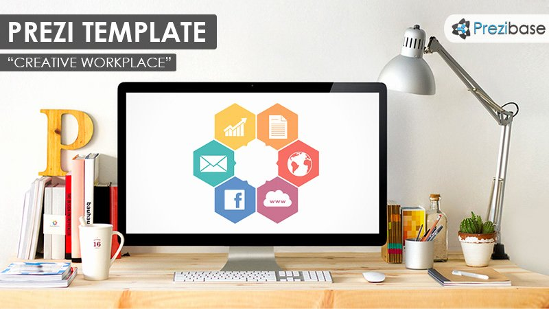 From the Desk Of Template Beautiful Creative Workplace Prezi Template
