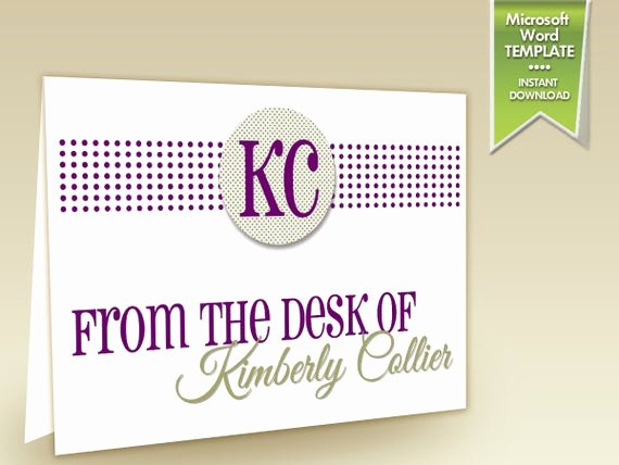 From the Desk Of Template Beautiful Items Similar to Instant Download From the Desk
