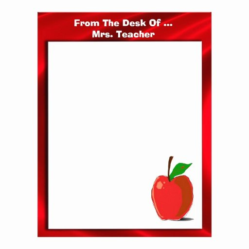 From the Desk Of Template Best Of Cute From the Desk Apple Stationery Letterhead