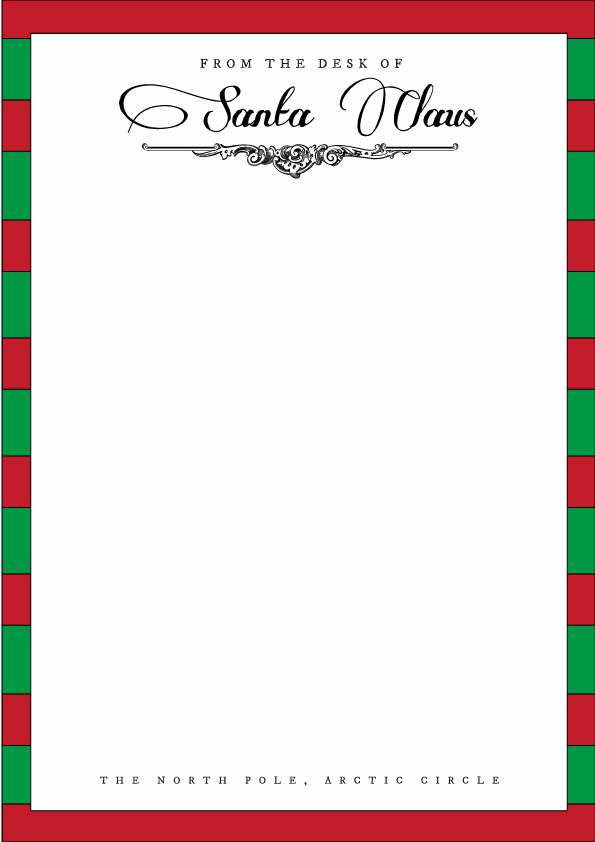 From the Desk Of Template Elegant Santa Letterhead Template Holidays