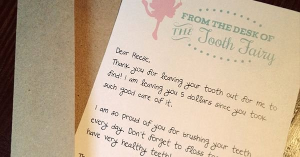 From the Desk Of Template Fresh Free tooth Fairy Letter by Three Little Monkeys Studio