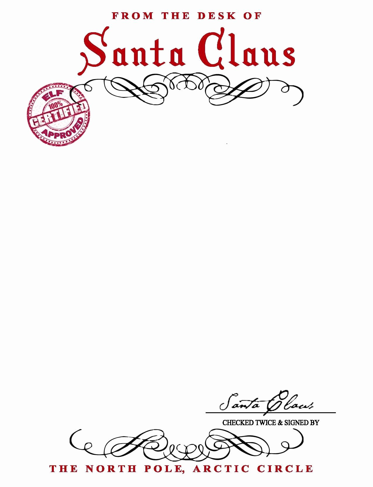 From the Desk Of Template Inspirational Santa Claus Letterhead Will Bring Lots Of Joy to