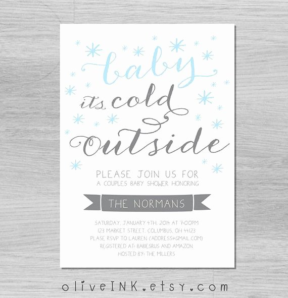 Frozen Baby Shower Invitations Best Of Baby It S Cold Outside Winter Baby Shower Invitation