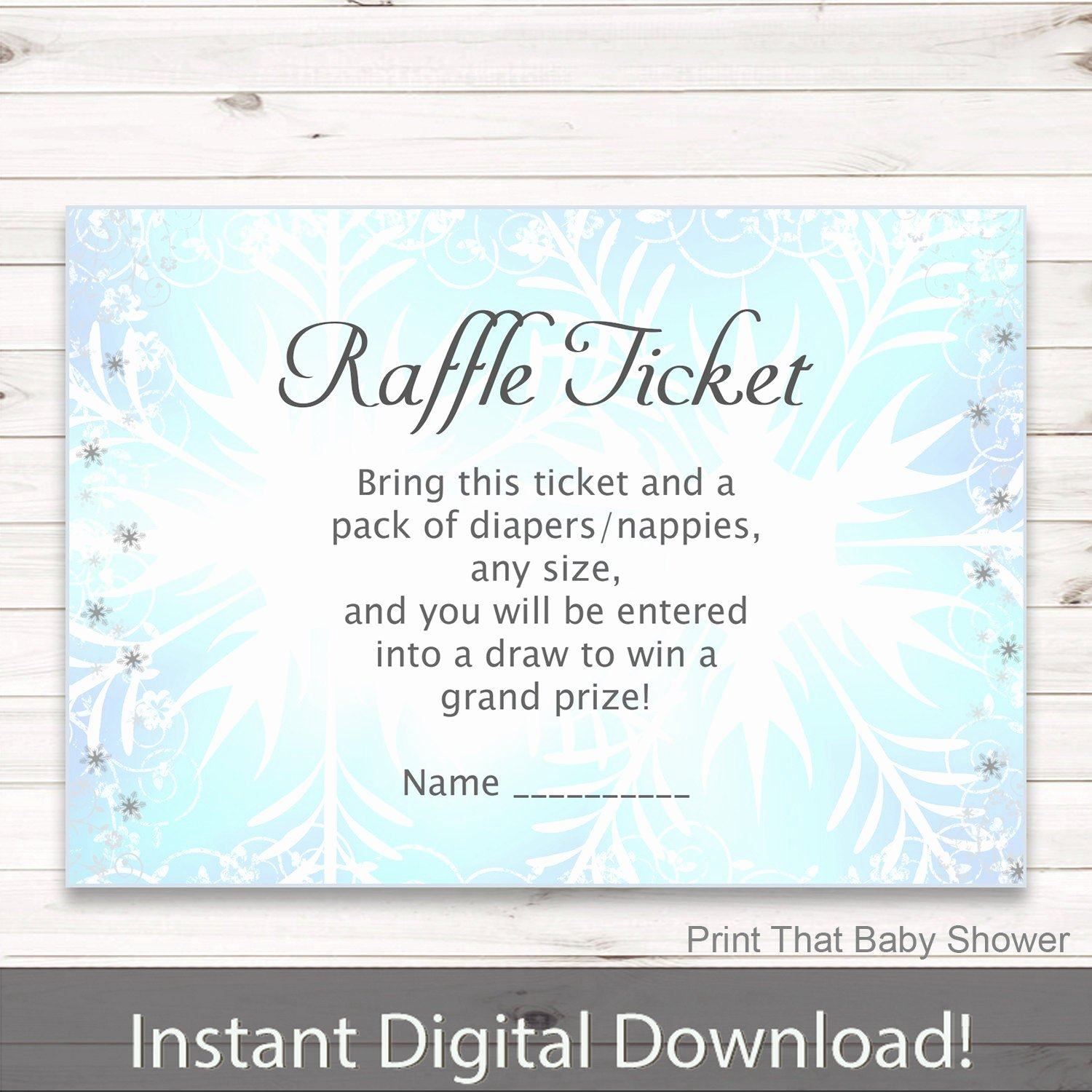Frozen Baby Shower Invitations Best Of Baby Shower Diaper Raffle Tickets Frozen Invitation Insert