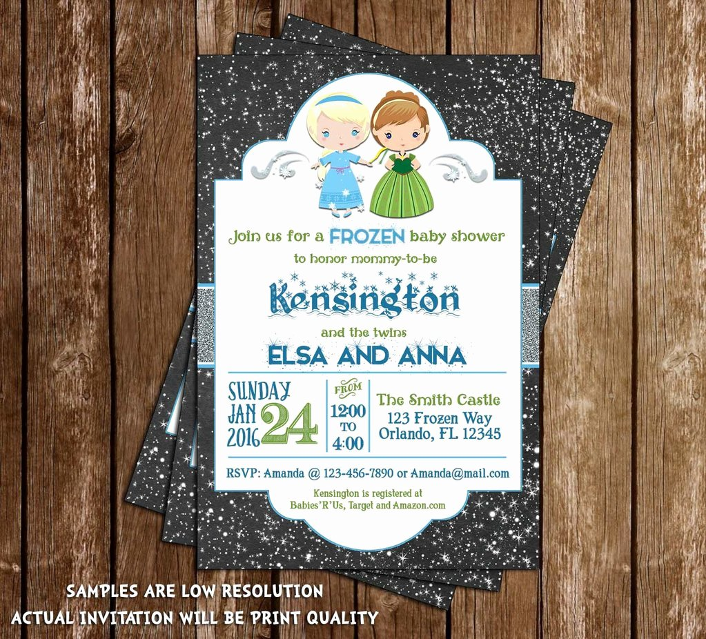 Frozen Baby Shower Invitations Best Of Novel Concept Designs Frozen Winter theme Elsa