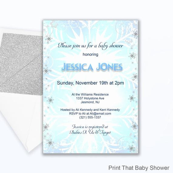 Frozen Baby Shower Invitations Elegant Baby Shower Invitation Frozen Baby Shower Printable