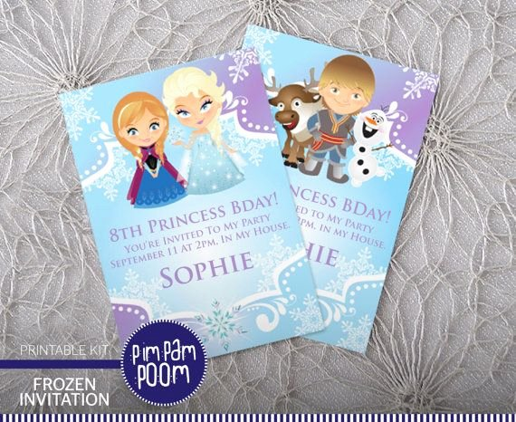 Frozen Baby Shower Invitations Fresh Frozen Birthday Party Invitation Printable by